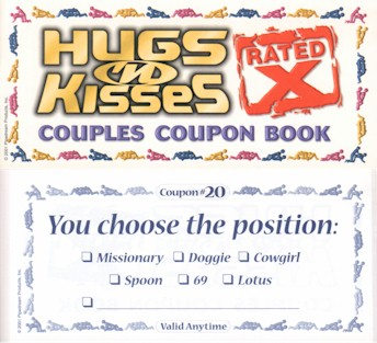 X Rated Hugs and Kisses Coupons